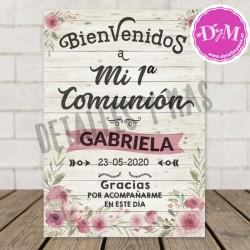 """Cartel Madera """"Bienvenidos"""""""