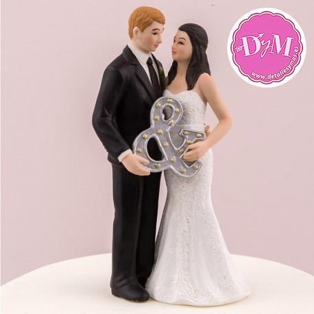 """Figura novios """" Mr & Mrs"""""""