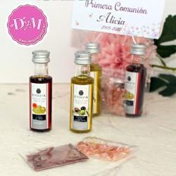 Pack de Aceite y Vinagre para comunión Violeta .25 ml.