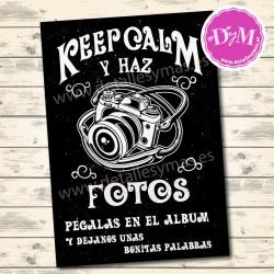 Cartel Pizarra Fotos