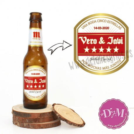 Etiqueta Cerveza Mahou personalizada
