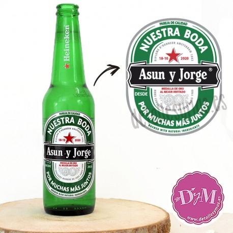 Etiqueta Cerveza Heineken personalizada