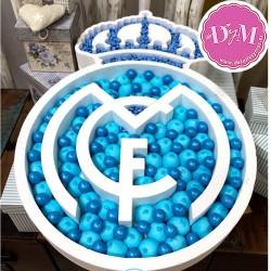 Escudo Real Madrid en corcho .Para Candy Bar