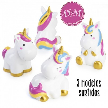 Huchas de unicornio. 3 modelos surtidos