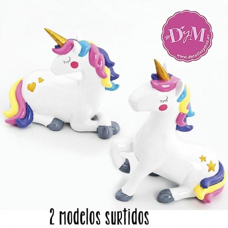 Huchas blanca de unicornio.2 modelos surtidos