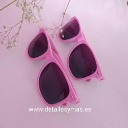 Gafas de sol rosas