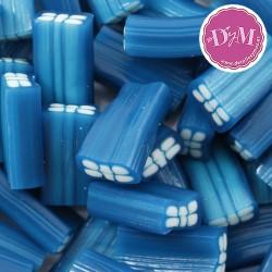 Ladrillo azul de regaliz relleno. Acabado brillo