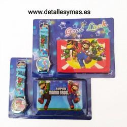 Cartera y reloj de Mario Bros