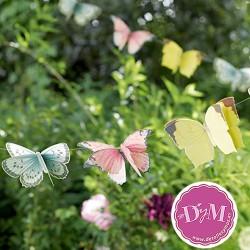 Guirnalda de mariposas