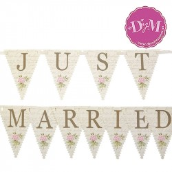 Banderin Just Married pequeño With Love
