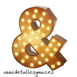Letra Ampresand con luces