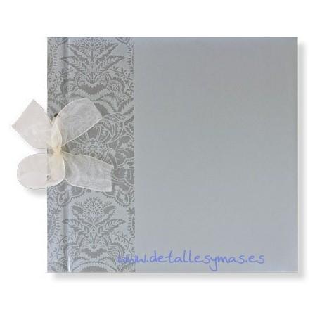 Libro de firmas florish plata