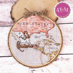 Bastidor Porta anillos Mapa Caribe