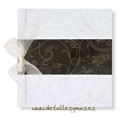 Libro de firmas Floral en beigh