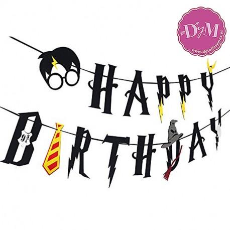 Banderin Harry potter cumpleaños de fieltro