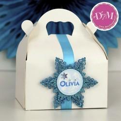 Caja Frozen turquesa personalizada