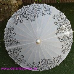 Parasol papel de arroz Filigrana. 82 cms