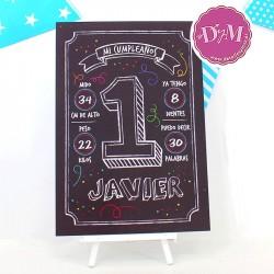 Cartel Pizarra Mi 1er Cumpleaños