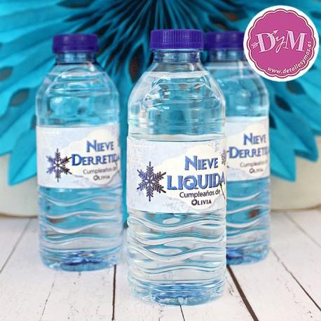 Bandas para botellas de Agua Frozen