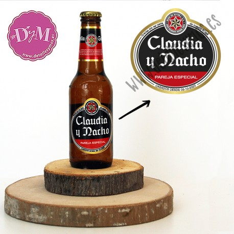 Etiqueta Cerveza personalizada tipo Estrella Galicia