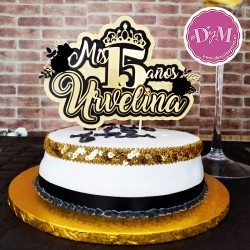 Topper para tarta quinceañera