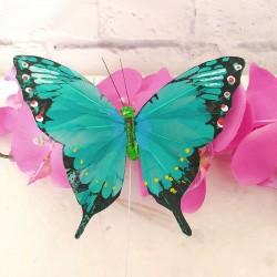 Mariposa de Plumas verde mod. Zambia