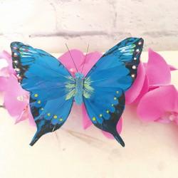 Mariposa de Plumas azul mod. Zambia