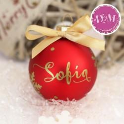 Bola de Navidad Personalizada . 6 cms