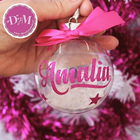 Bola de Navidad Personalizada transparente