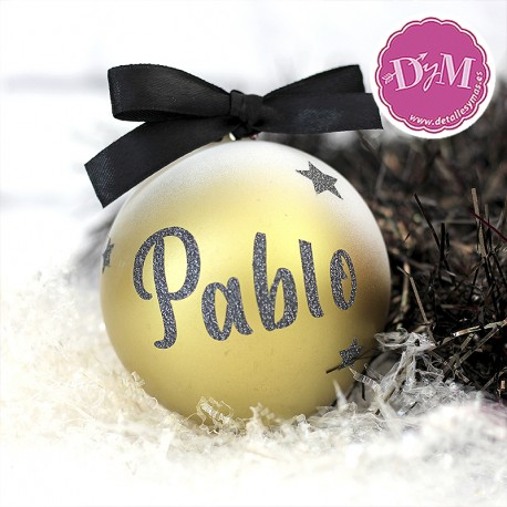 Bola de Navidad Personalizada . 8 cms