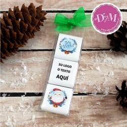 Napolitanas de Chocolate Navideñas con logo