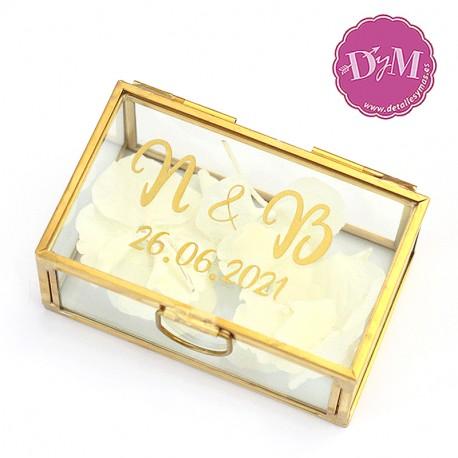 Caja porta anillos cristal PERSONALIZADOL