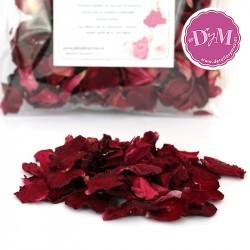 Pétalos de rosa Deshidratados .Color Rubí