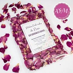 Pétalos de rosa Deshidratados .Color Lila