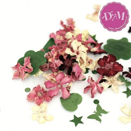 Bolsitas de Flores y confetti natural. Personalizados