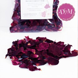 Pétalos de rosa Deshidratados .Color Vino