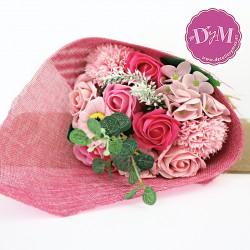 Ramo de flores de Jabón Rosa. Personalizado