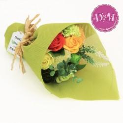 Ramo de flores de Jabón tonos verdes. Personalizado