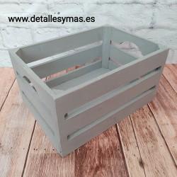 Cajita de madera gris