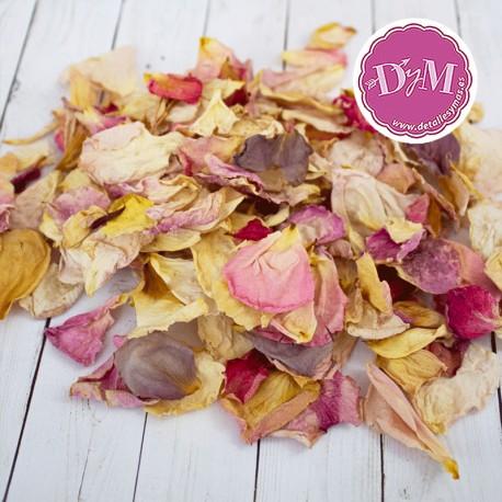 Pétalos de rosa Deshidratados . Mezcla Vintage