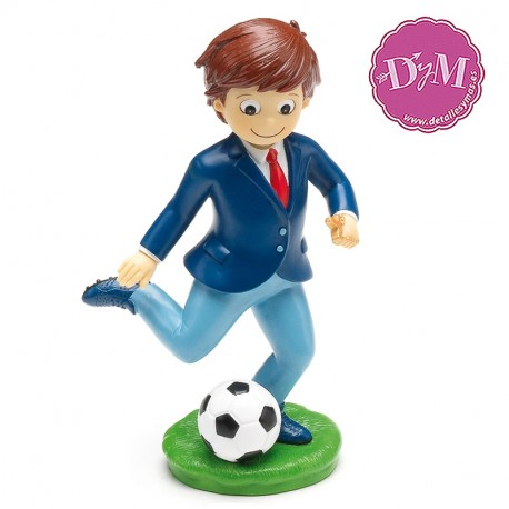Figura tarta comunión Galones fútbol