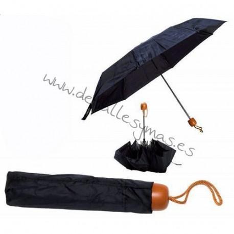 Paraguas plegable negro
