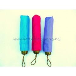 Paraguas plegable para boda. Colores lisos