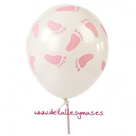 Globos piececitos rosa